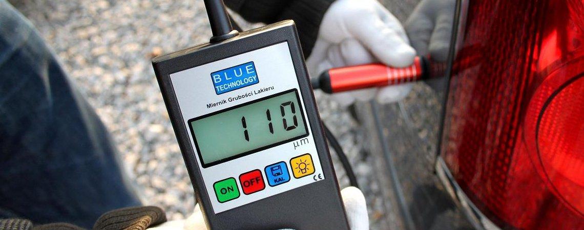 Pomiar lakieru - wynik 110 µm sugeruje oryginalną warstwę lakieru.