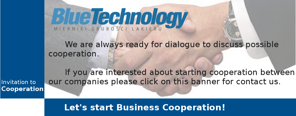 Invitation to business cooperation